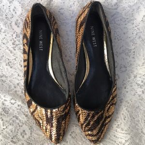 Nine West Sequin flats